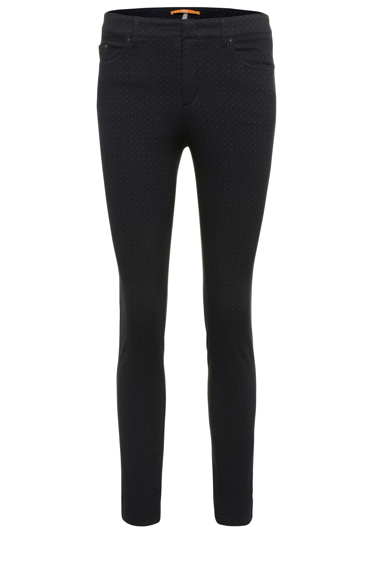 Narrow trousers in stretchy cotton blend with viscose: 'Sobina1-D'