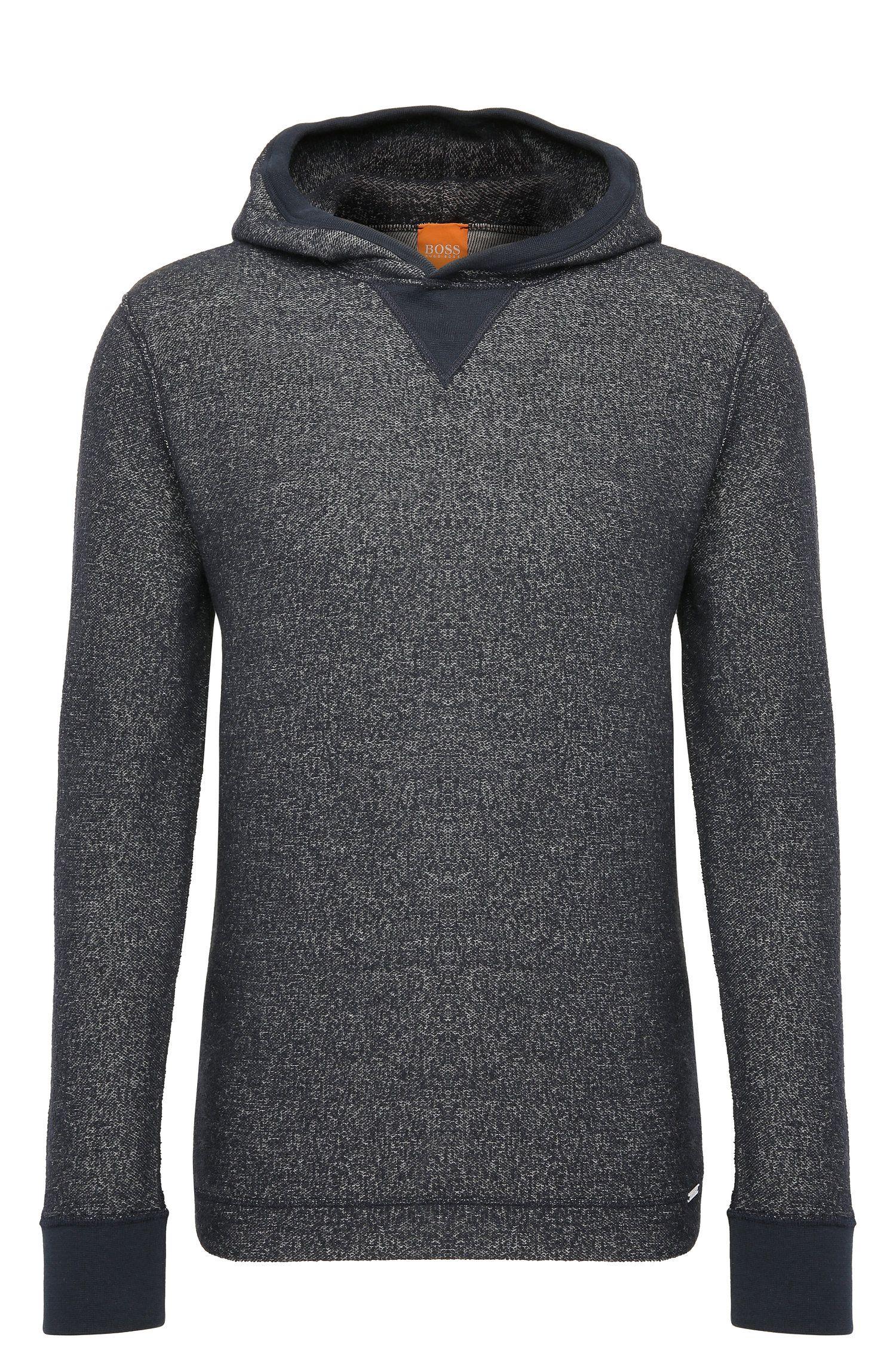 Gebreide regular-fit hoodie van een katoenmix met wol: 'Wrapping'