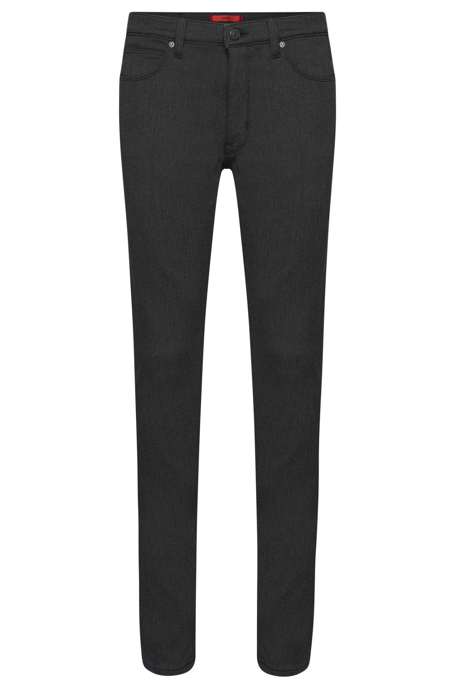 Jeans Skinny Fit en coton mélangé à effets délavés: «HUGO734»