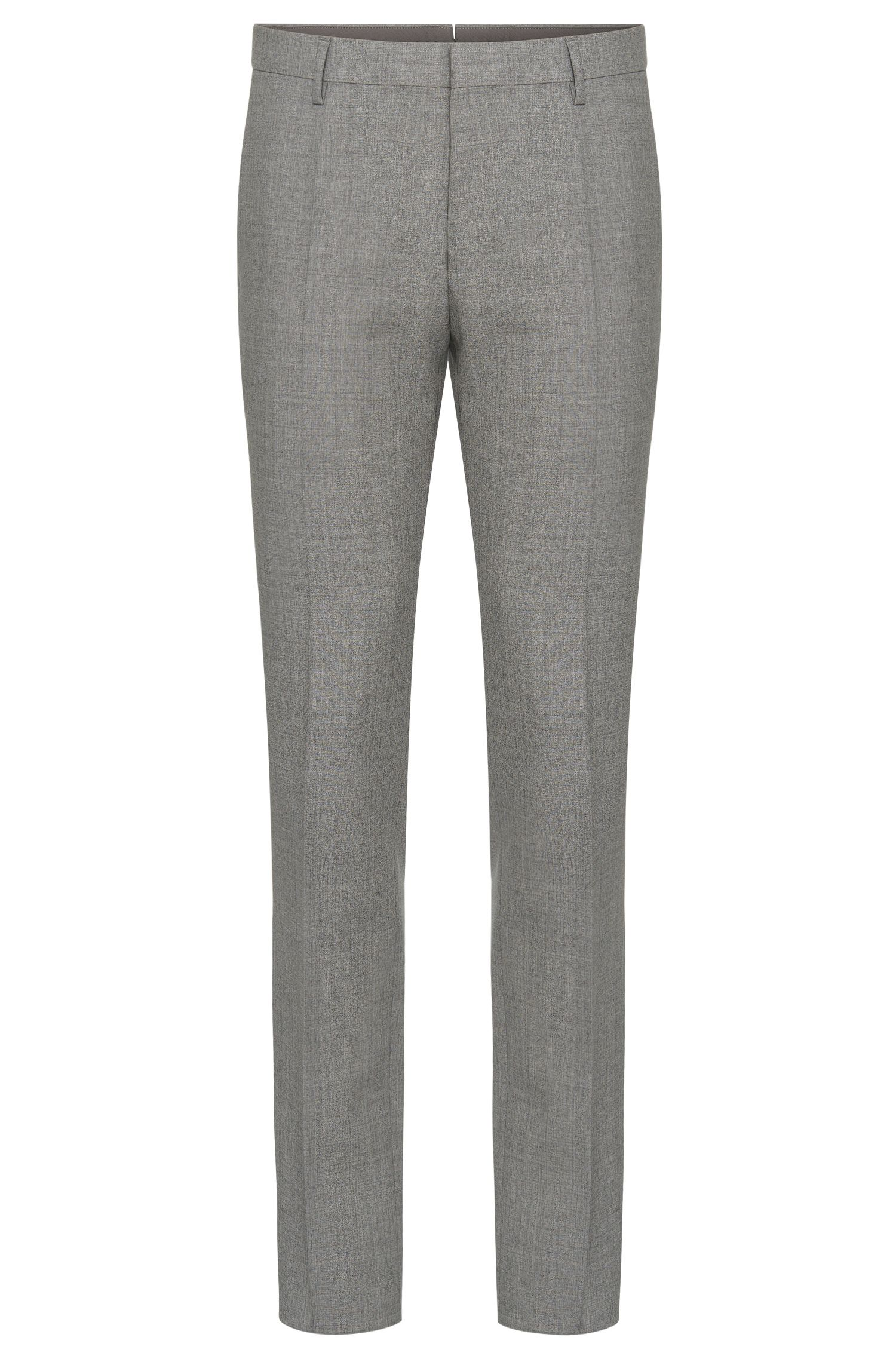 Mottled slim-fit Tailored trousers in new wool with silk: 'T-Gavril'