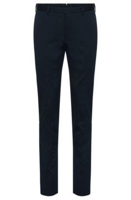 Pantalon Slim Fit Tailored en coton: «T-Belvit», Bleu foncé