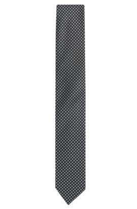 Cravate en soie à motif: «Tie7,5cm», Noir
