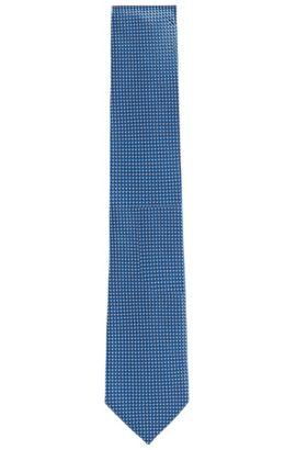 Cravate en soie à motif: «Tie7,5cm», Bleu foncé