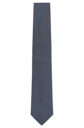 Finely patterned silk tie: 'Tie 7.5cm', Dark Blue