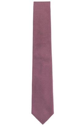 Corbata con fino estampado en seda: 'Tie 7,5cm', Púrpura oscuro