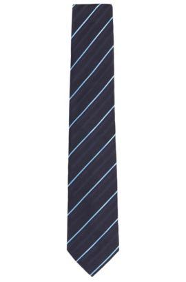 Corbata estampada en seda: 'Tie 7,5cm', Azul oscuro