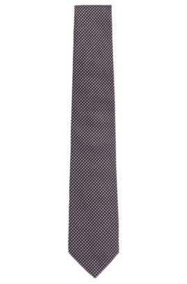 Gemusterte Krawatte aus Seide: 'Tie 7,5 cm', Hellrosa
