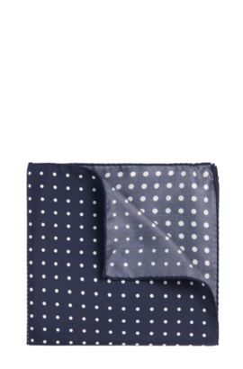 Patterned pocket square in silk: 'Pocketsquare 33x33cm', Blue