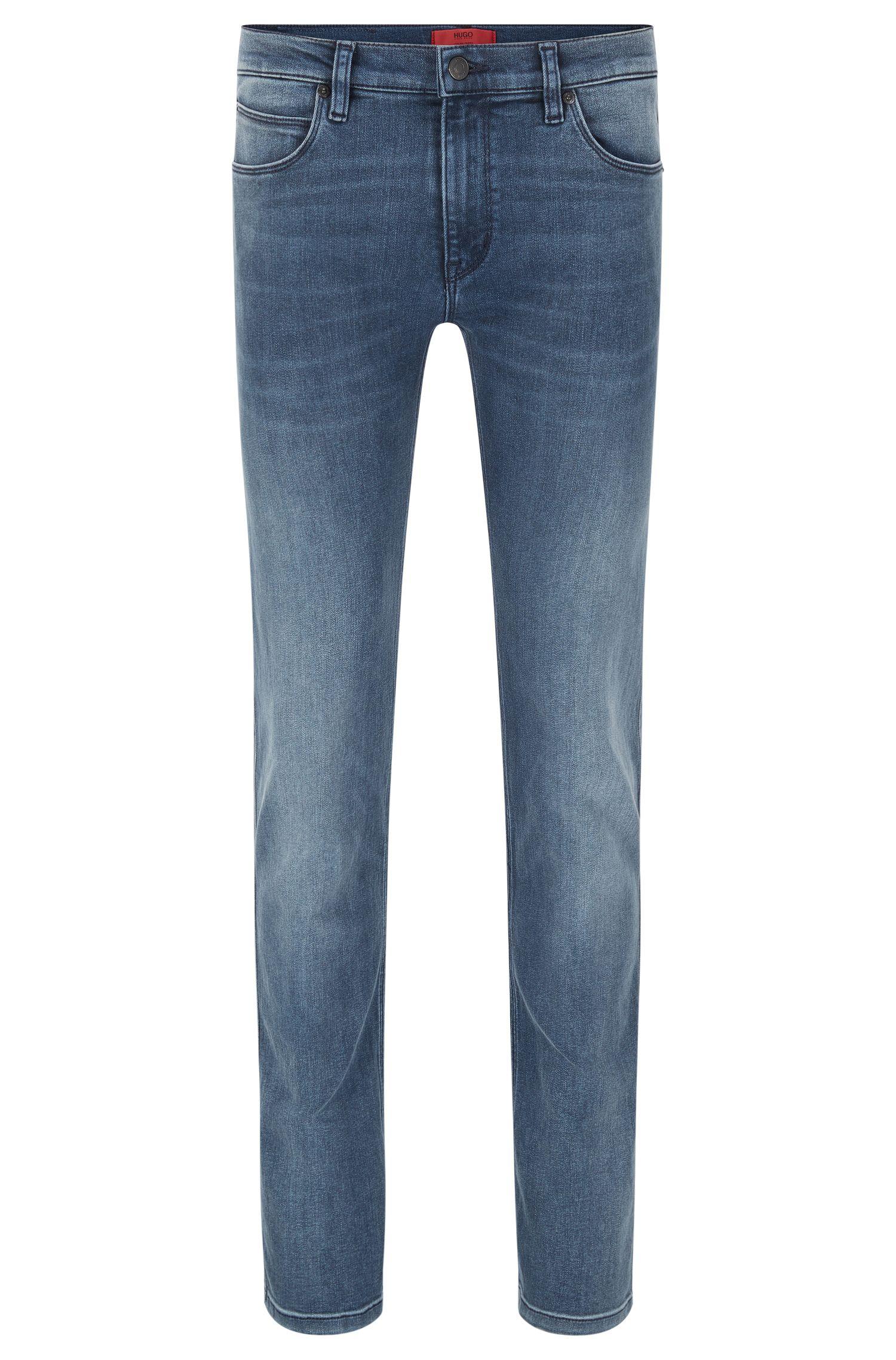 Jeans slim fit in misto cotone elasticizzato con trattamento effetto usato: 'HUGO 708'