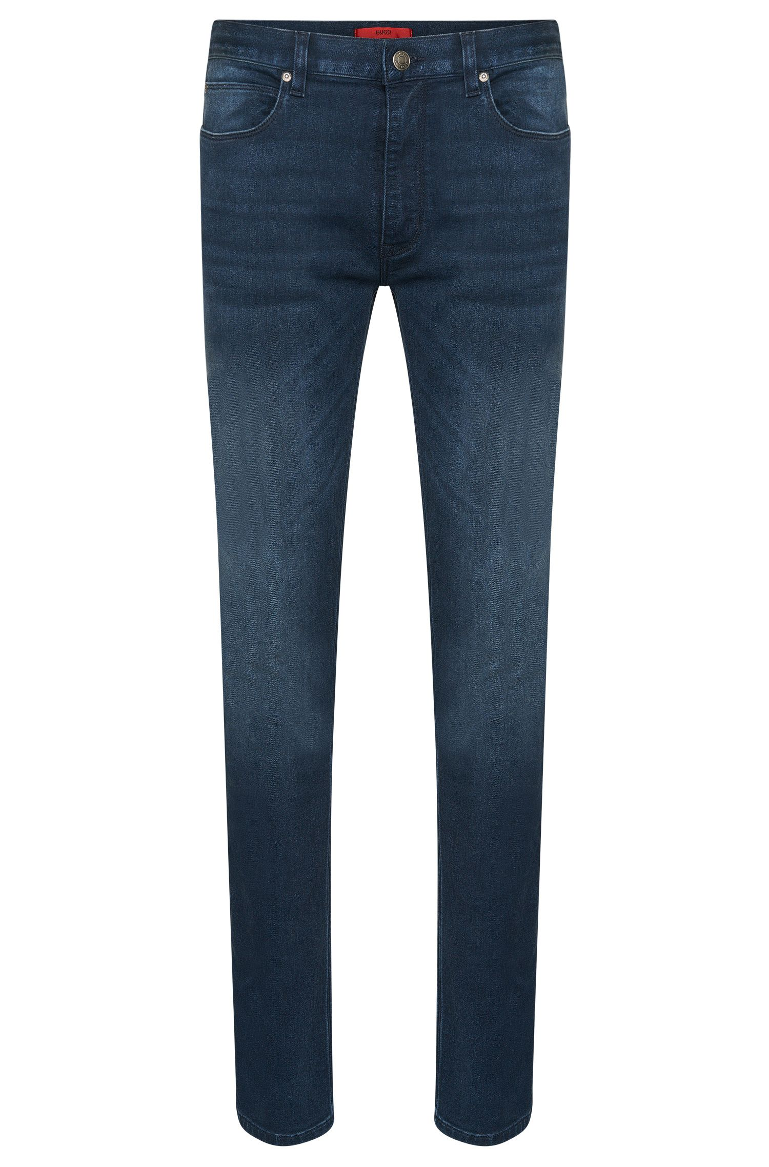 Skinny-Fit Jeans aus Baumwoll-Mix mit Used-Waschung: 'HUGO  734'