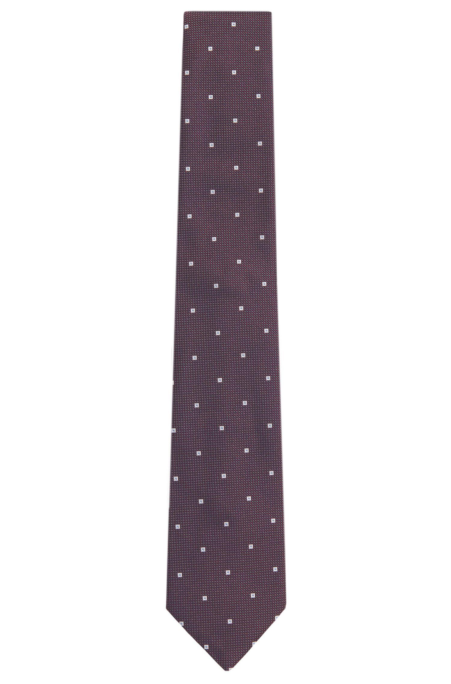 Krawatte aus Seide mit Quadrat-Muster: 'Tie 7,5 cm'