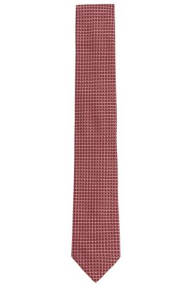 Cravatta in seta a disegni: 'Tie 7,5cm', Rosso scuro