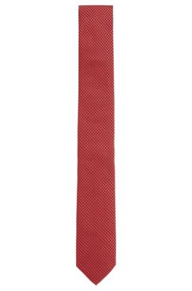 All-over patterned silk tie: 'Tie 6 cm', Red