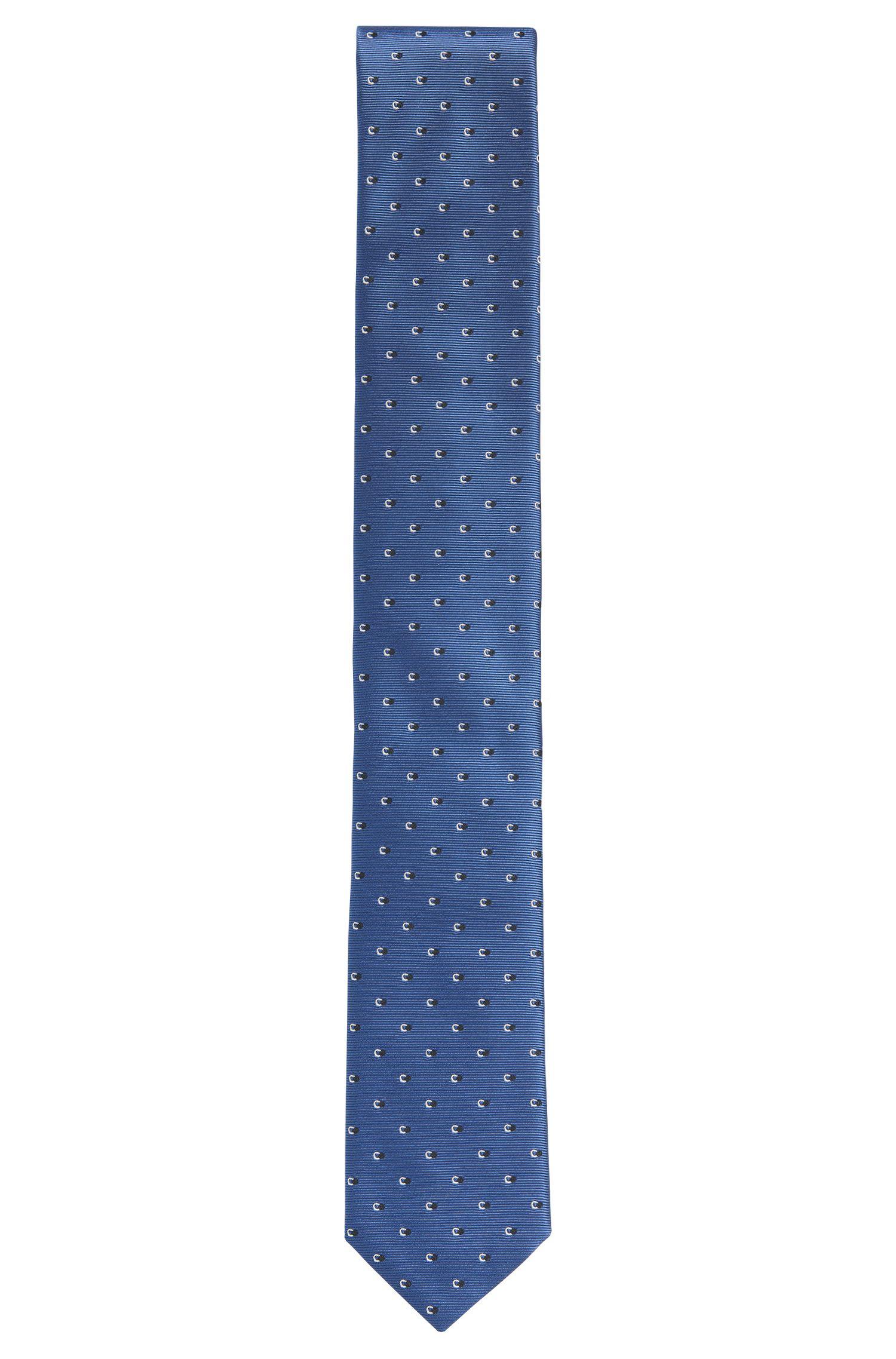 Allover gemusterte Krawatte aus Seide: 'Tie 6 cm'