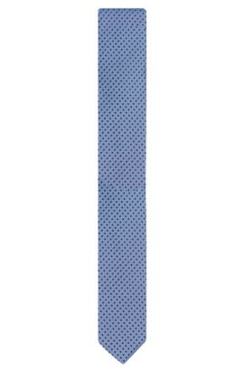 All-over patterned silk tie: 'Tie 6 cm', Light Blue