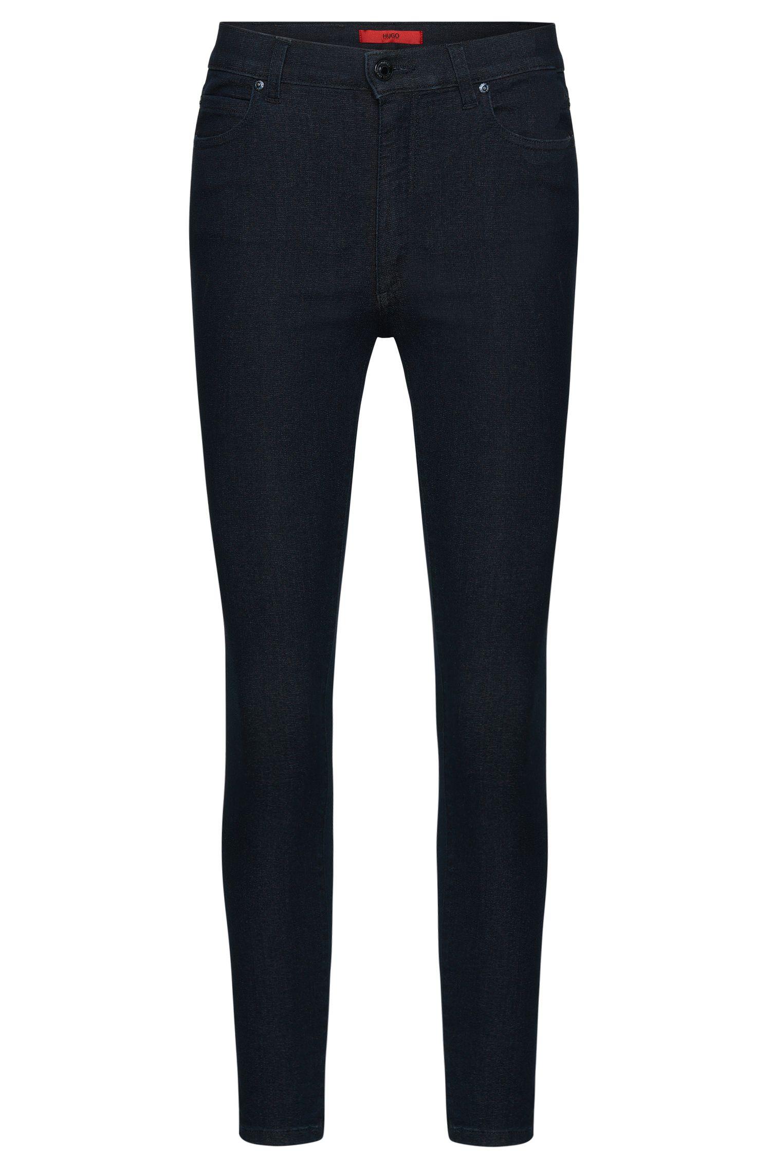 High waist-fit jeans van een katoenmix in cropped-lengte: 'Gerna Highwaist Skinny Leg'
