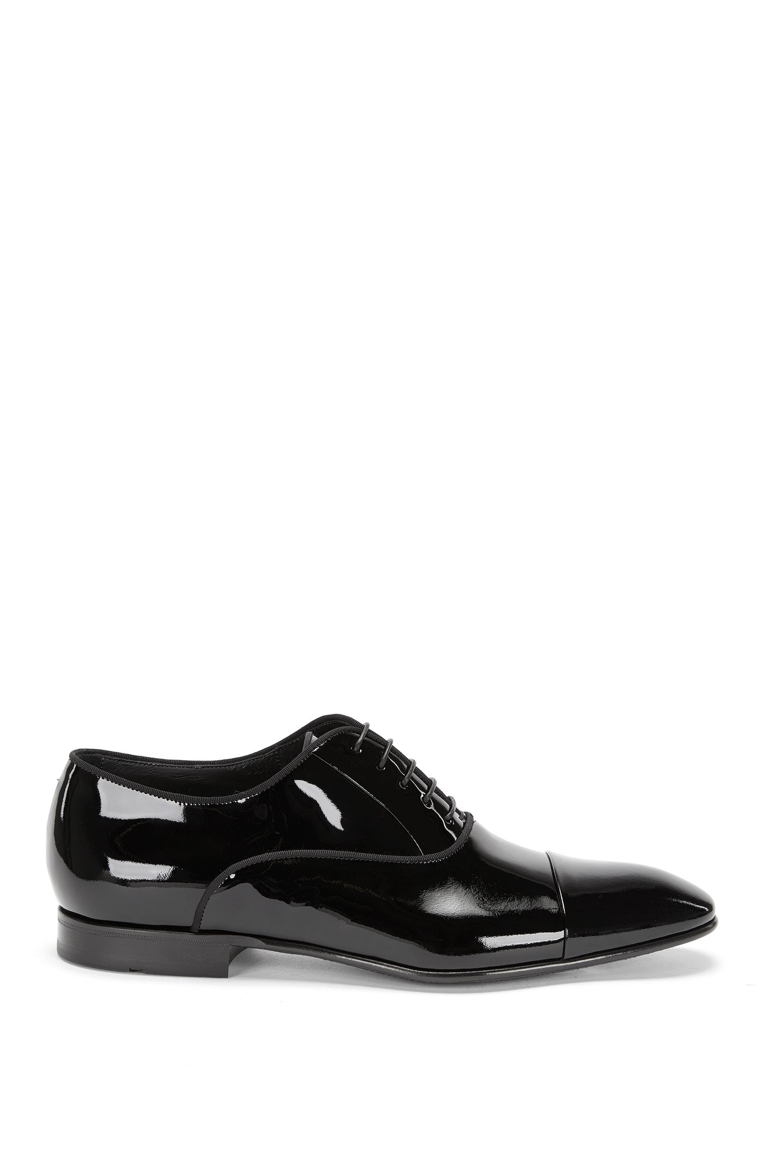 Patent leather lace-up shoes in Oxford style: 'Evening_Oxfr_pact'