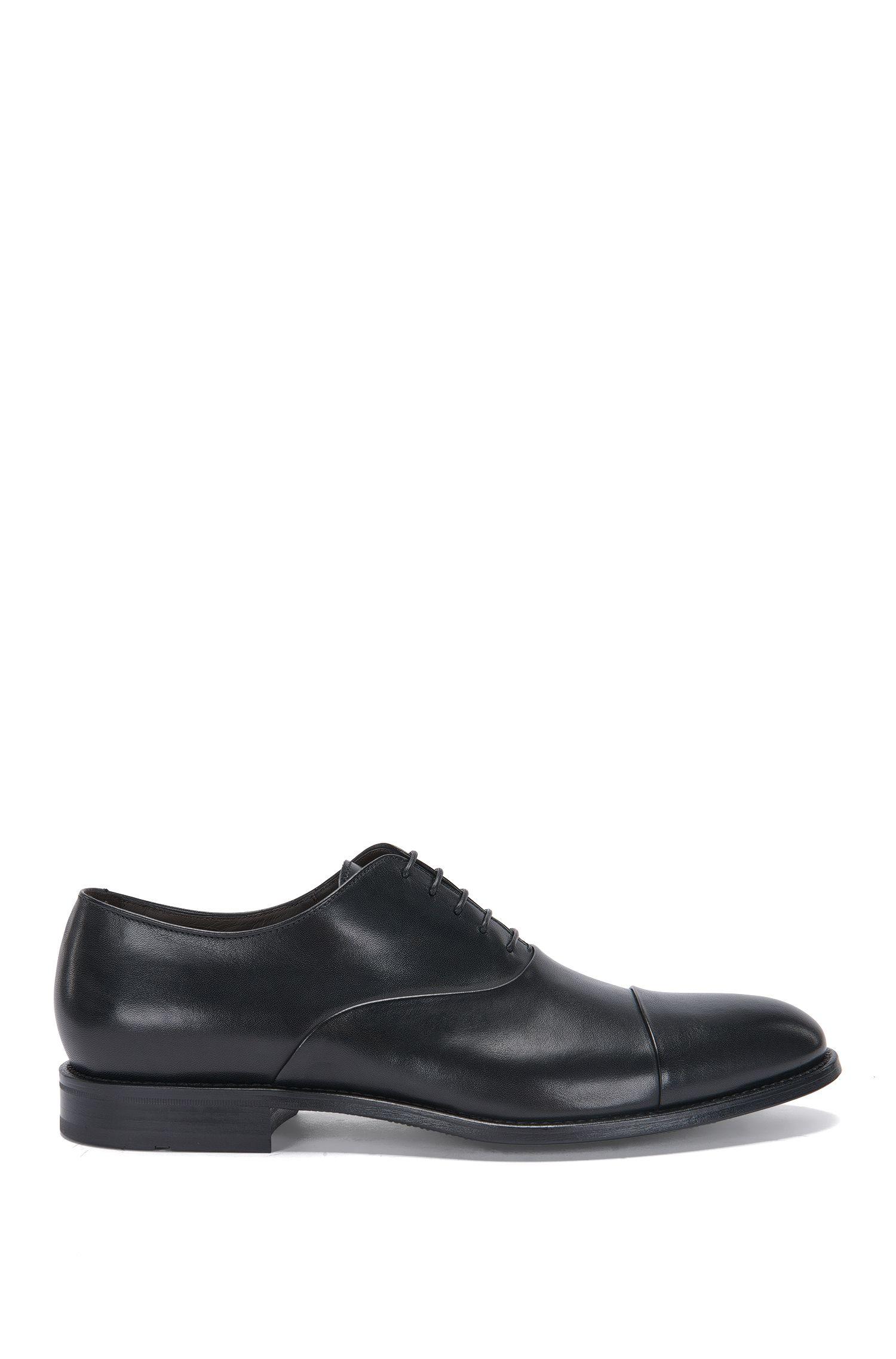 Zapatos con cordones en piel con puntera en contraste y estilo Oxford: 'Stockholm_Oxfr_ctst'
