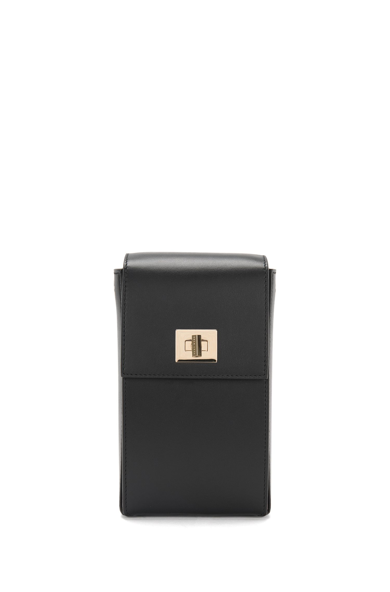 BOSS Bespoke shoulder bag in smooth leather