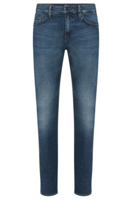 Slim-fit jeans in stretch cotton: 'Delaware3', Blue
