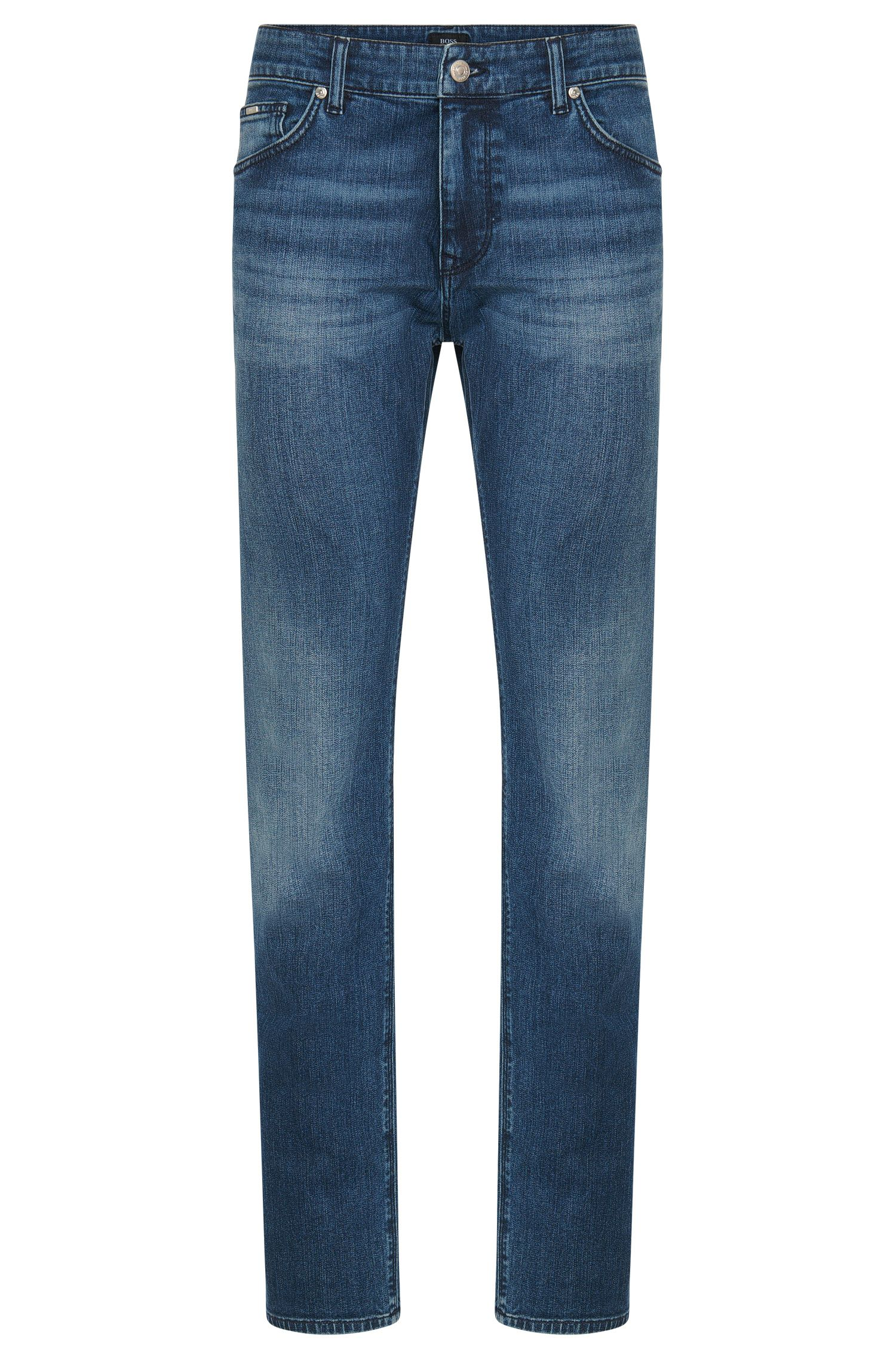 Regular-fit jeans in stretch cotton: 'Maine3'