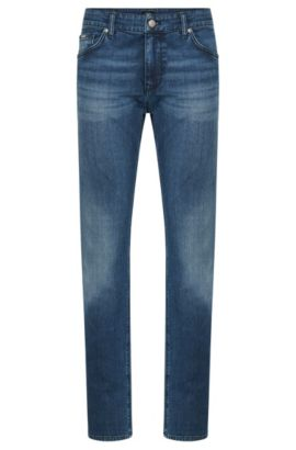Regular-Fit Jeans aus elastischer Baumwolle: 'Maine3', Blau