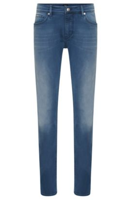 Jeans Slim Fit en coton extensible : « Charleston3 », Bleu