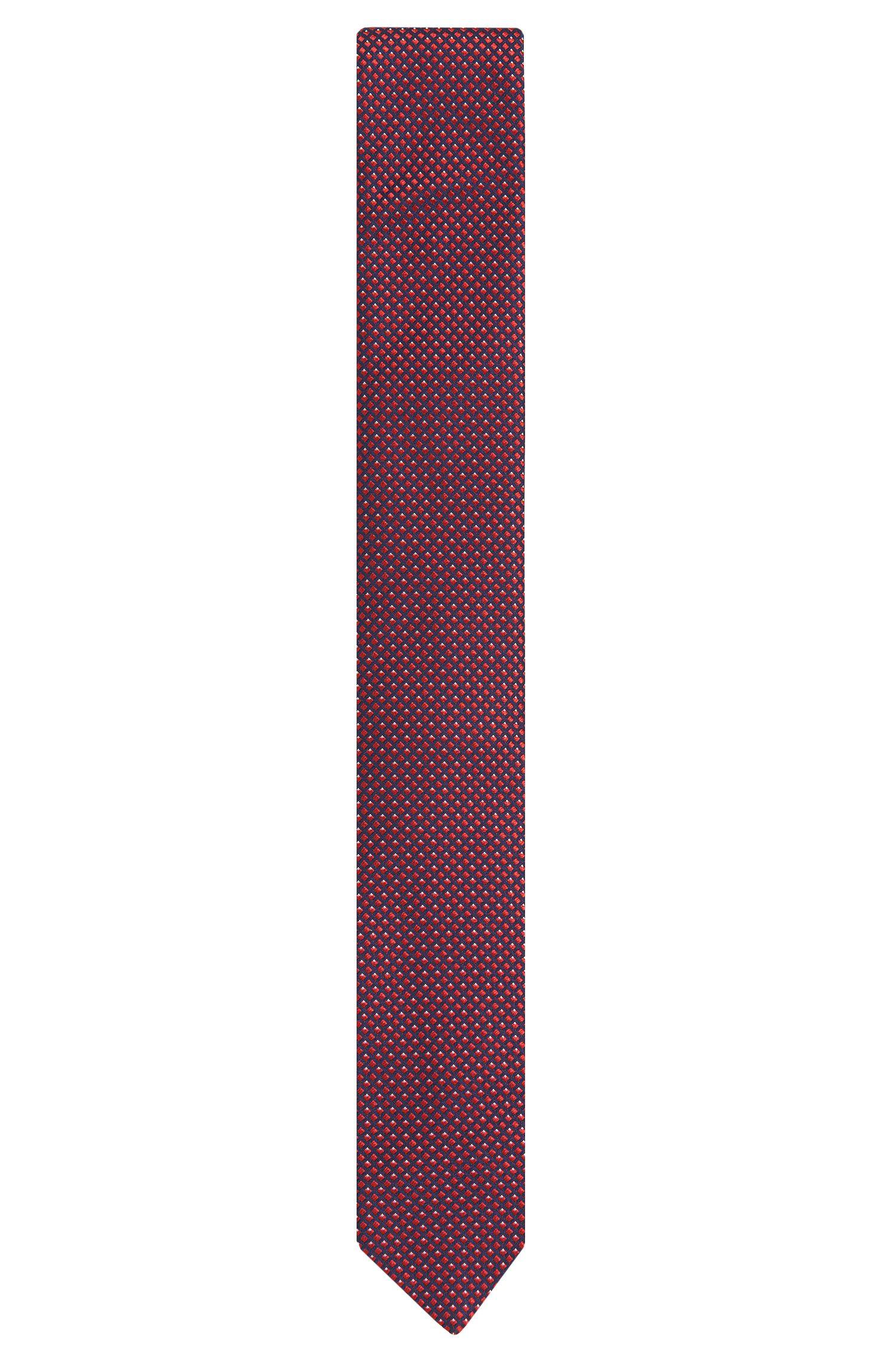Cravatta in seta con fine motivo a disegni: 'Tie 6cm'