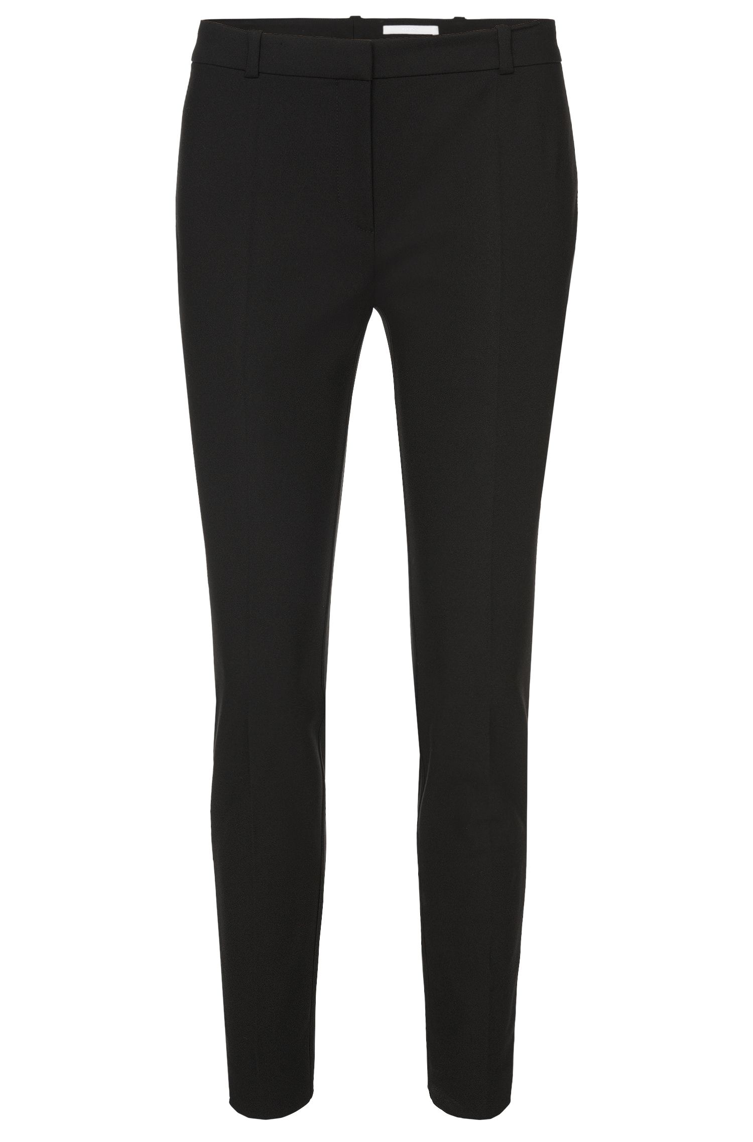 Regular-fit trousers in stretch cotton-blend