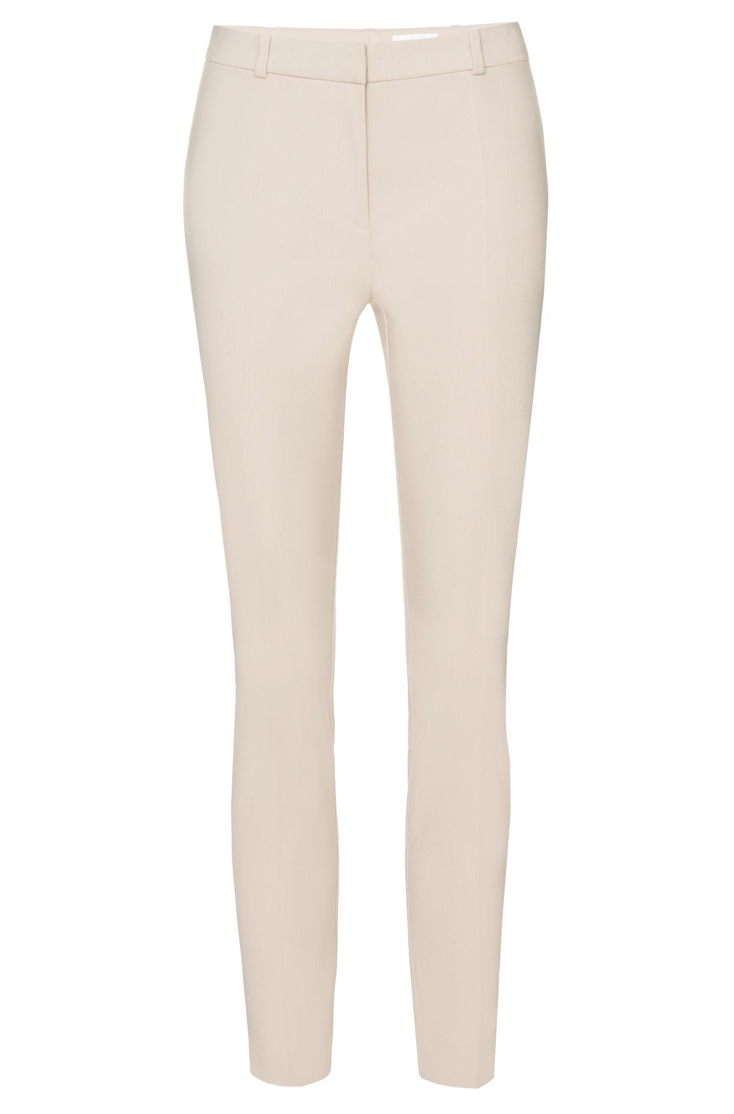 Pantalon Regular Fit en coton stretch mélangé