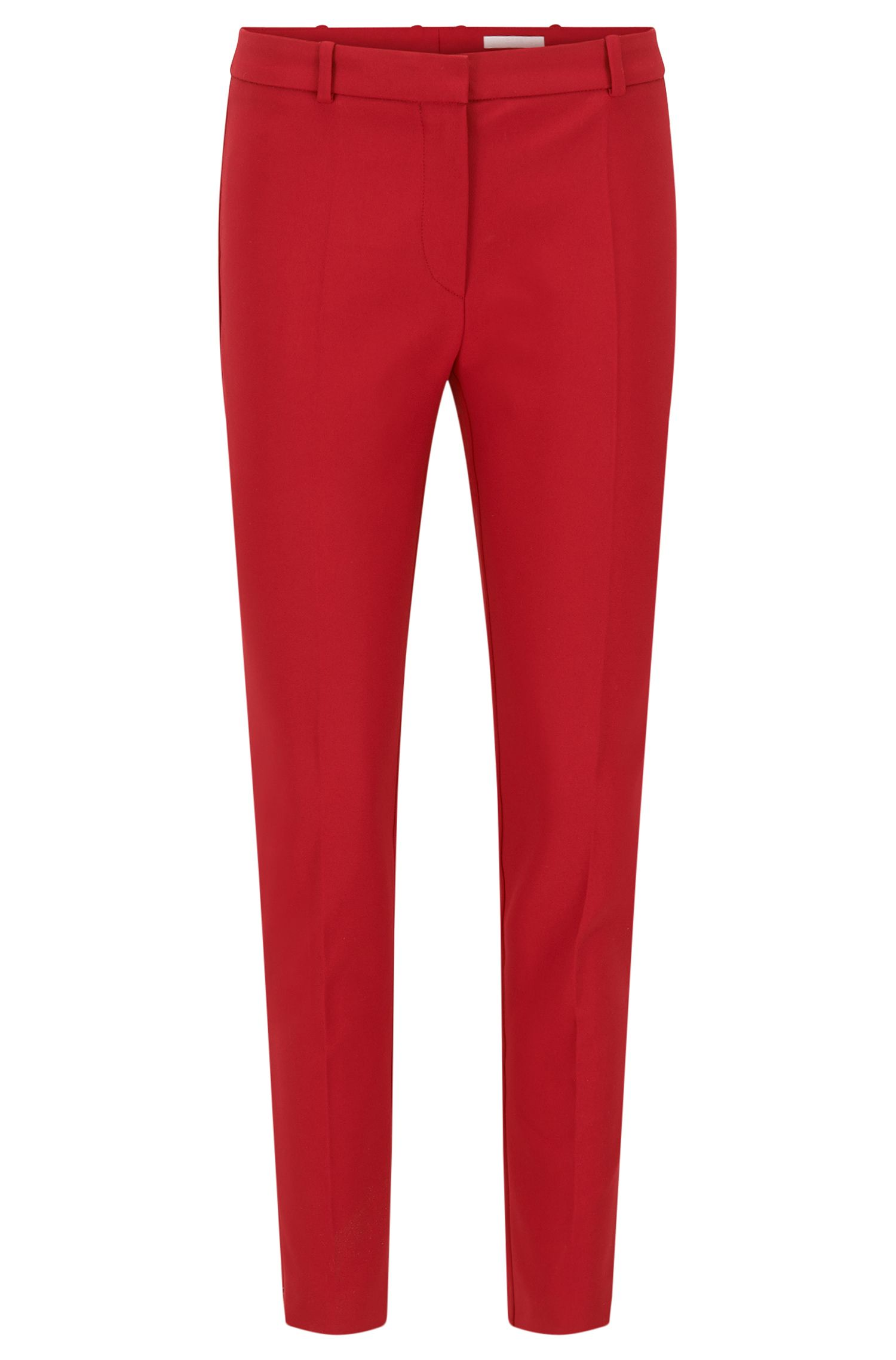 Pantalón regular fit en mezcla de algodón elástico