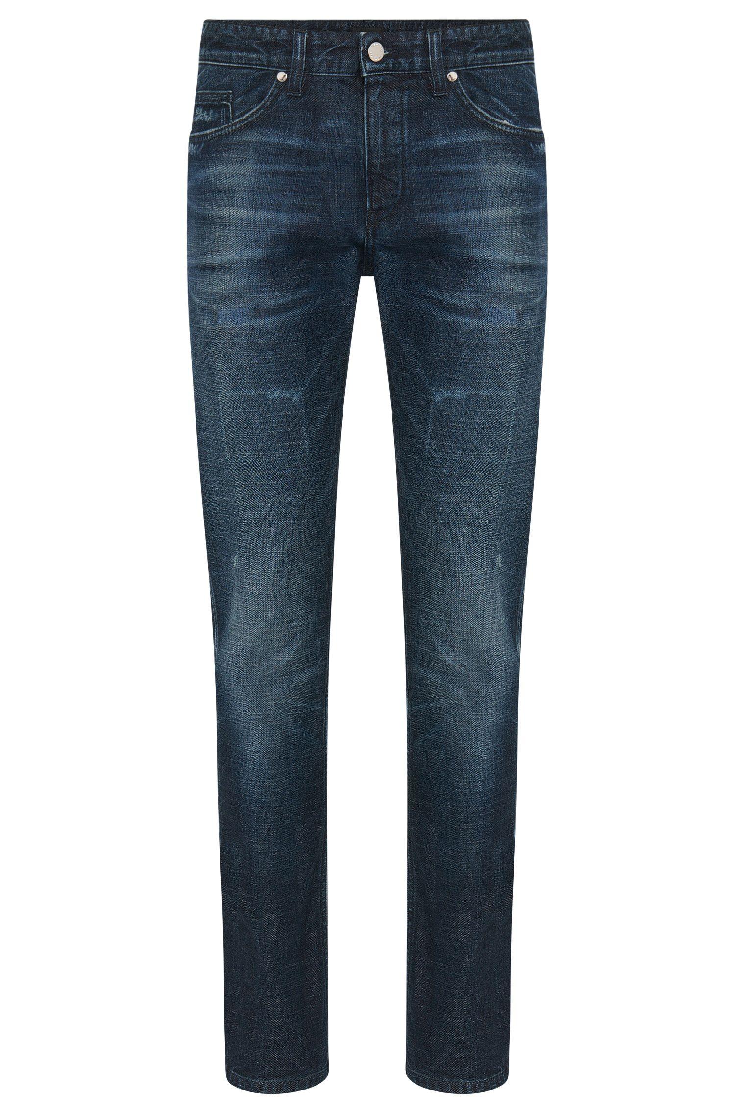 Slim-fit jeans van stretchkatoen met used-wassing: 'Delaware3'