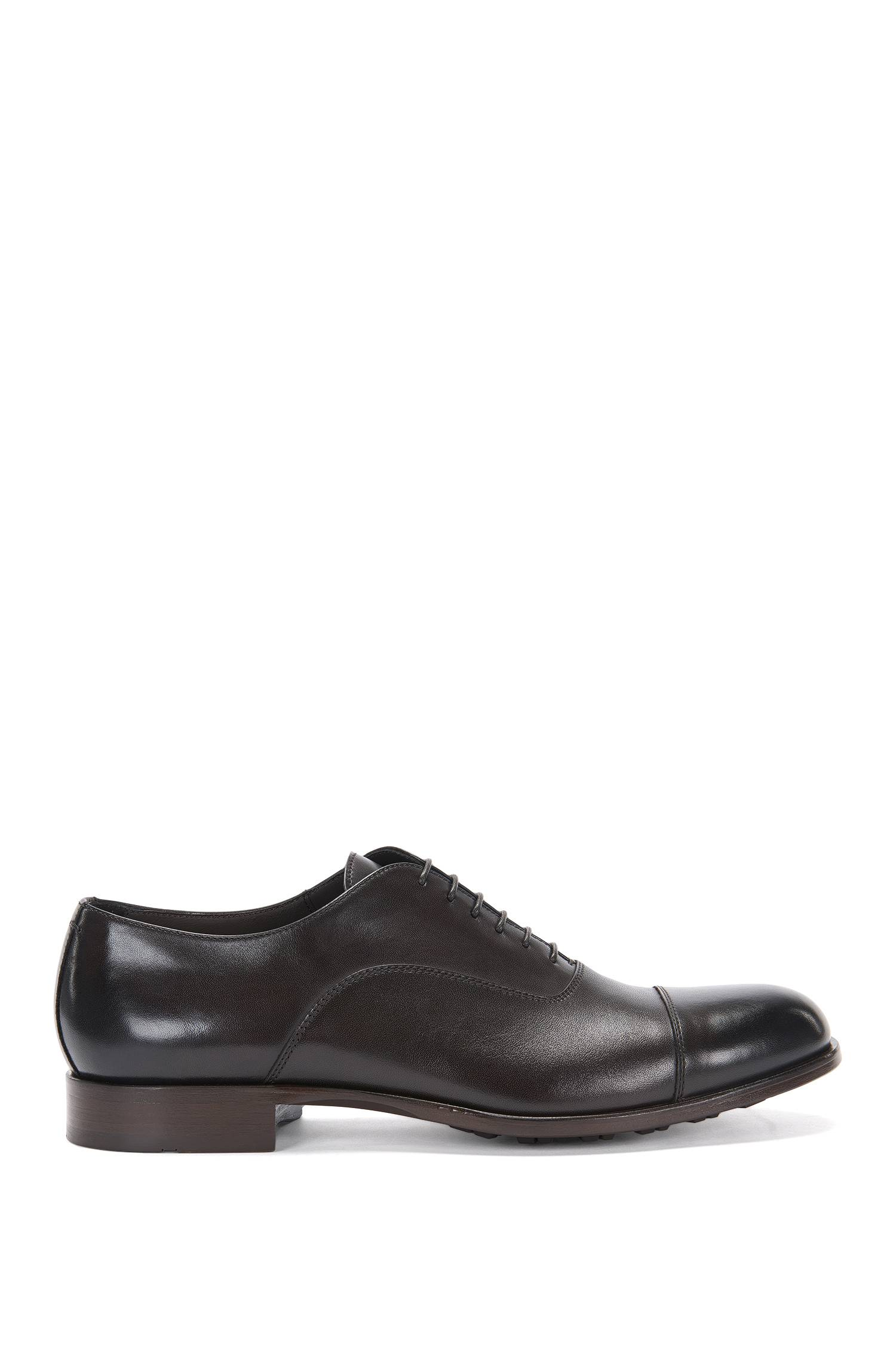 Leather laceup shoes with profiled sole `Monumental_Oxfr_ct`