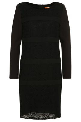 Kleid mit Spitzen-Besätzen: ´Alacy`, Schwarz
