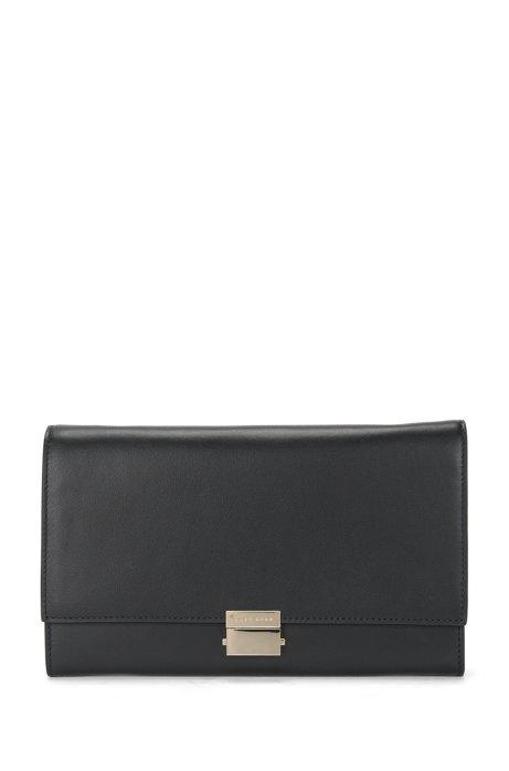 4c27365e677 BOSS - Plain-coloured leather clutch bag with metal chain: 'Munich ...