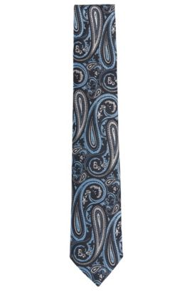 Krawatte aus Seide mit individuellem Muster: 'Tie 7,5 cm', Dunkelblau