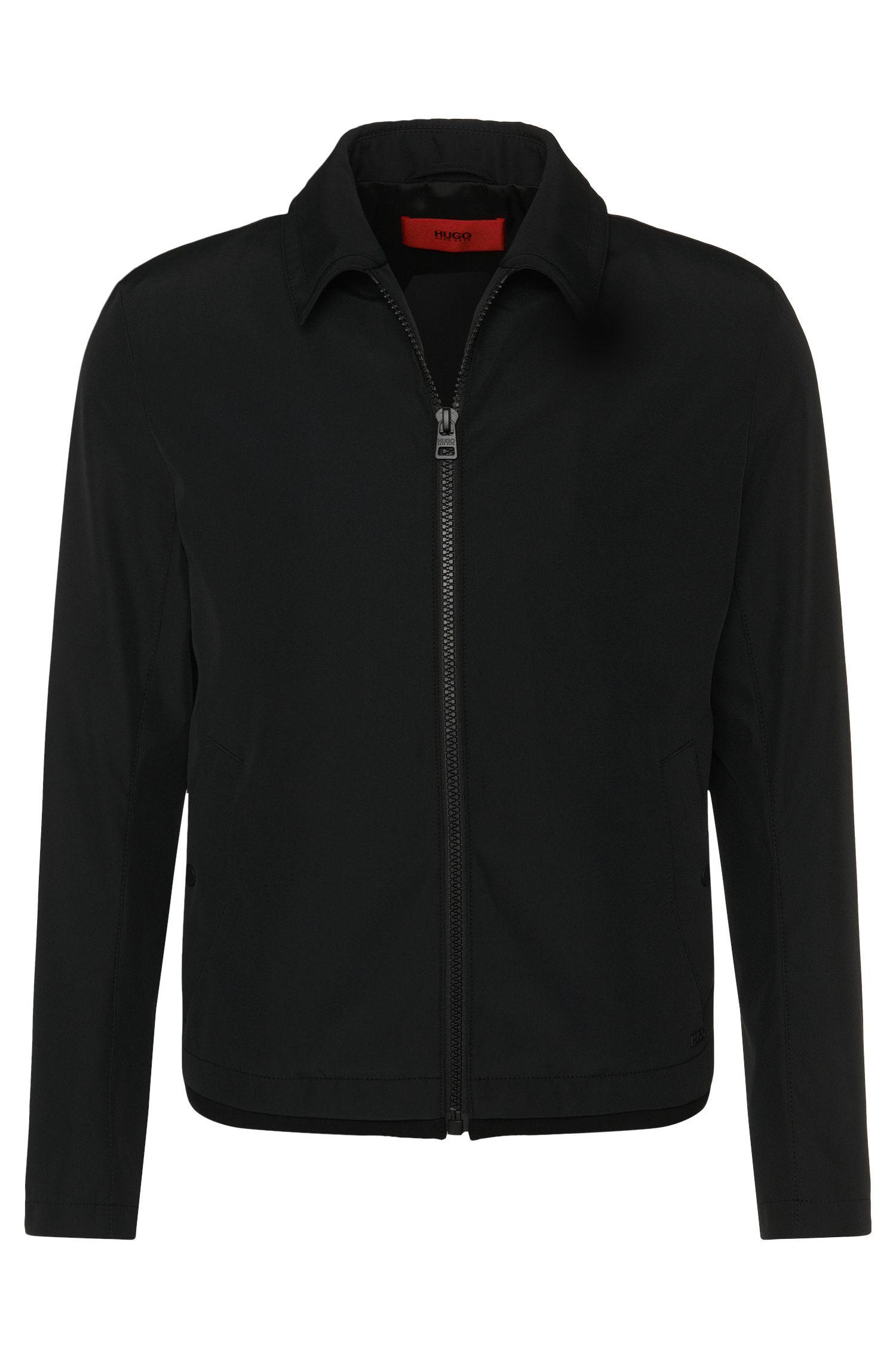 Jacke aus wasserabweisendem Material-Mix mit Klappkragen: 'Banzot'