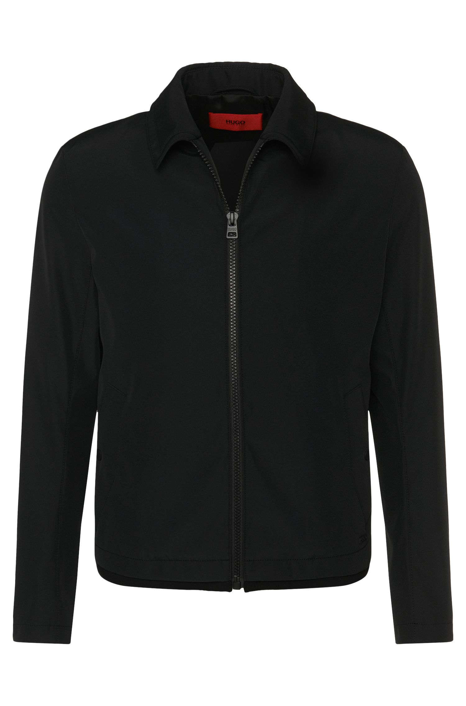 Jacket in a water-repellent fabric blend with a turn-down collar: 'Banzot'