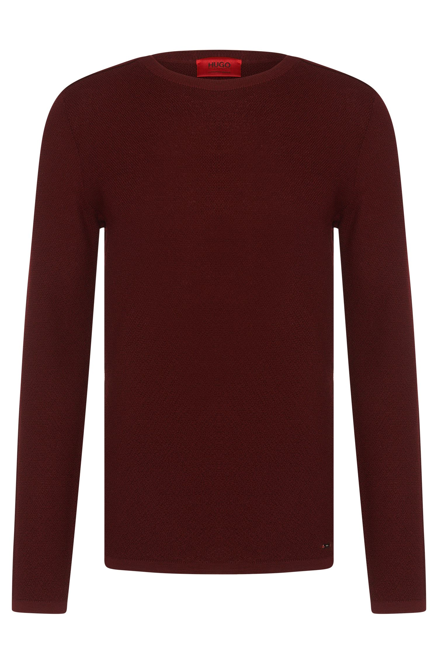 Regular-fit sweater in new wool with all-over texture: 'Salexo'