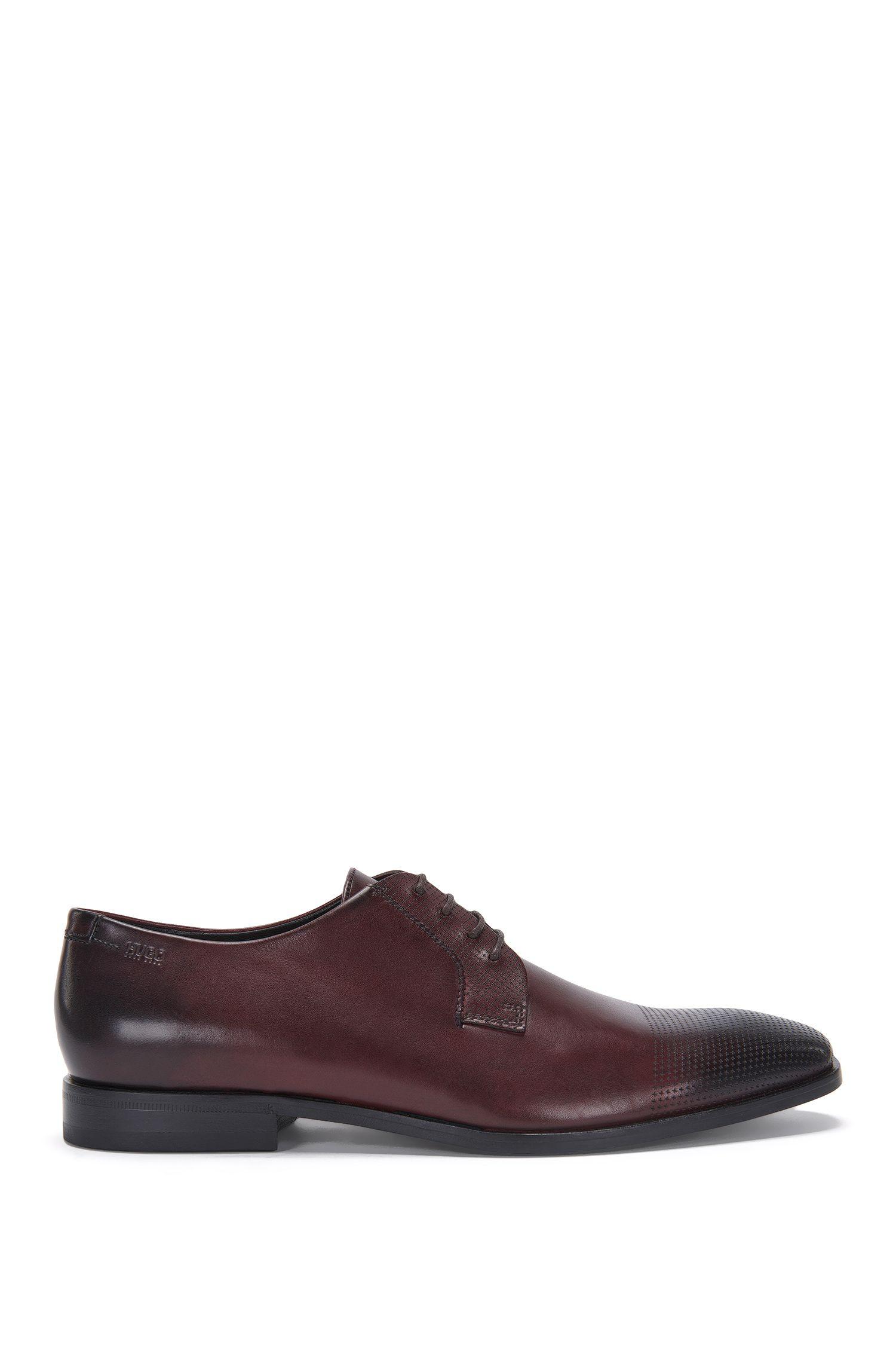 Zapatos de cordón en piel con detalles elaborados con láser: 'Square_Derb_lsps'