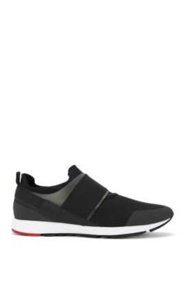 Sporty trainers with neoprene trim: 'Hybrid_Runn_mxnet', Anthracite