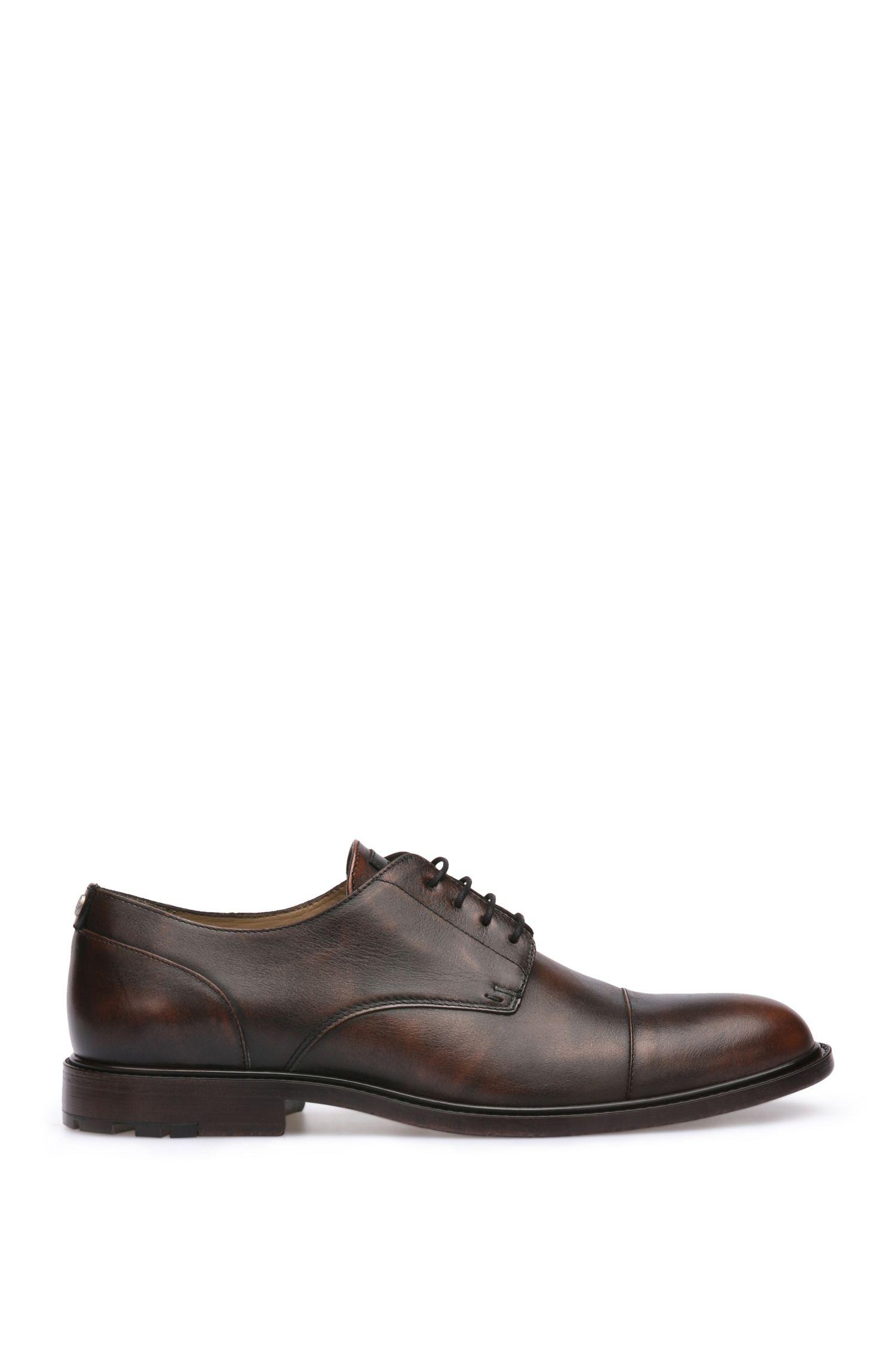 Zapatos con cordones de piel de aspecto vintage: 'CultrootDerbbo'