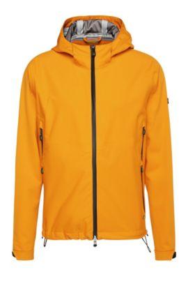 Regular-fit jas van een materiaalmix met NFC-logo: 'Japple', Licht oranje