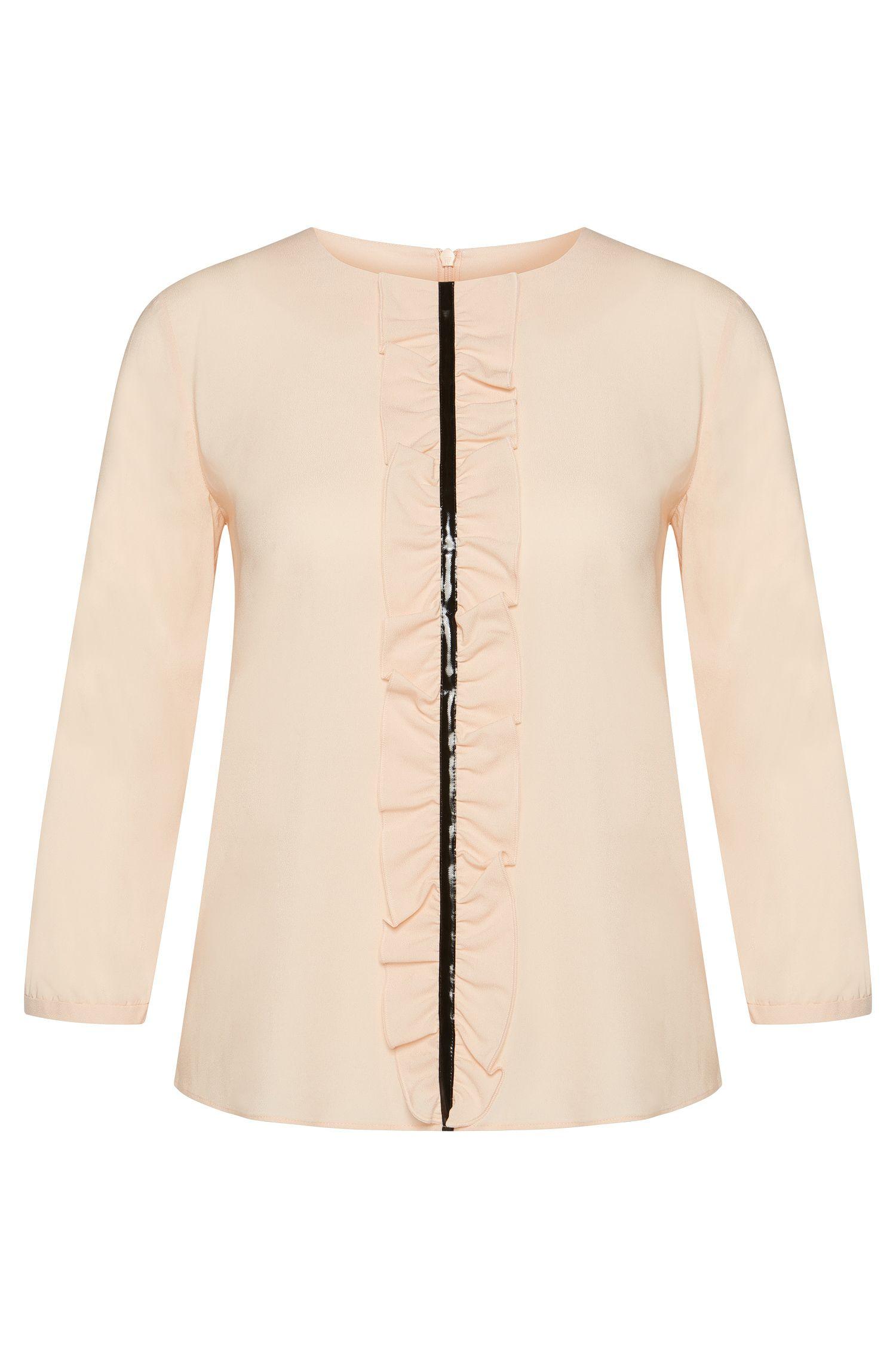 Bluse aus Stretch-Viskose mit Volant-Blende: 'Clarite-2'