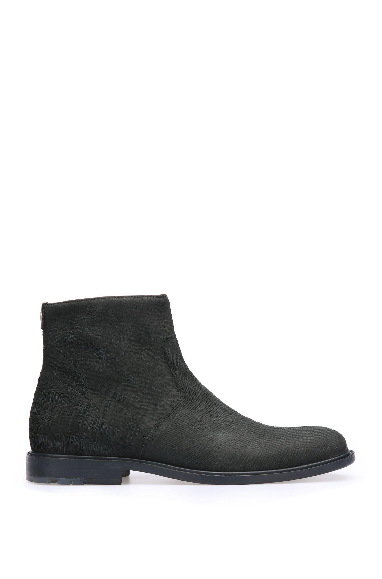Leder-Boots mit Prägung: ´CultrootZipbsdls`