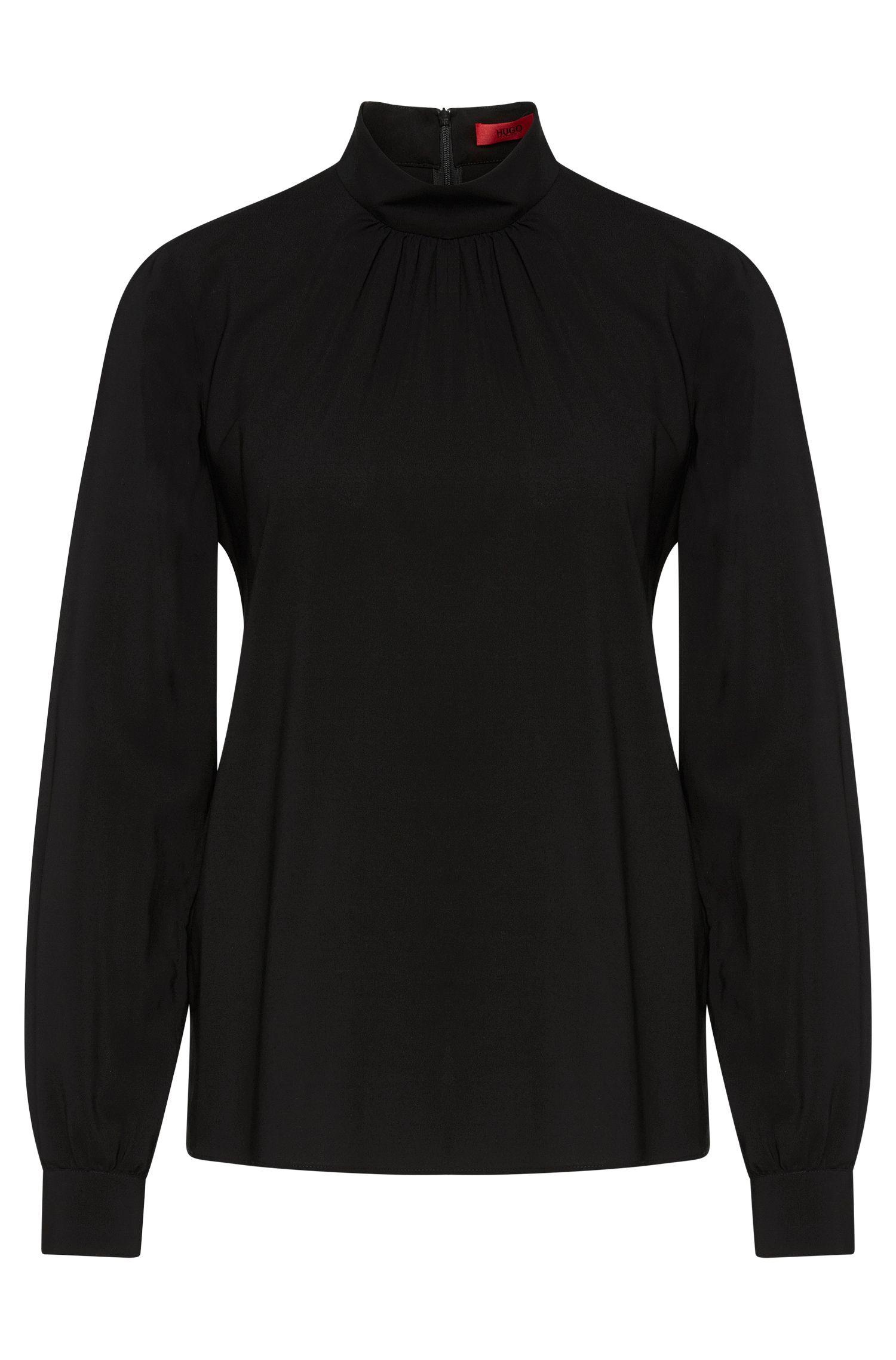 Blusa de viscosa elástica con pliegues: 'Carinas-1'