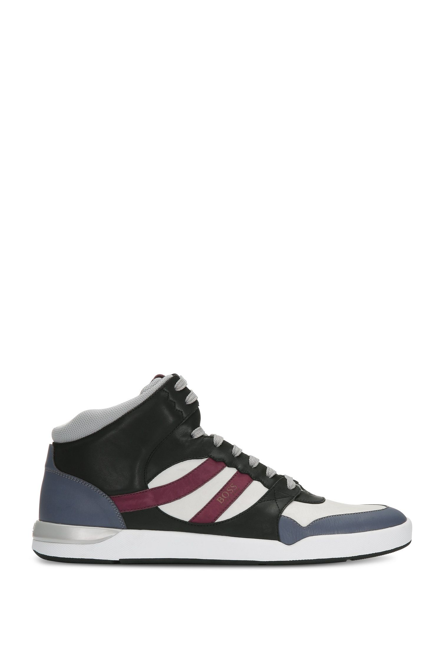 High Top Sneakers aus Leder und Textil: ´Stillnes_Hito_ltws`