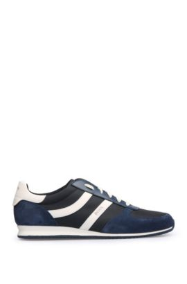 Sneakers low-top con suola esterna EVA, Blu scuro