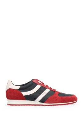 Low-top trainers with EVA outsole, Red