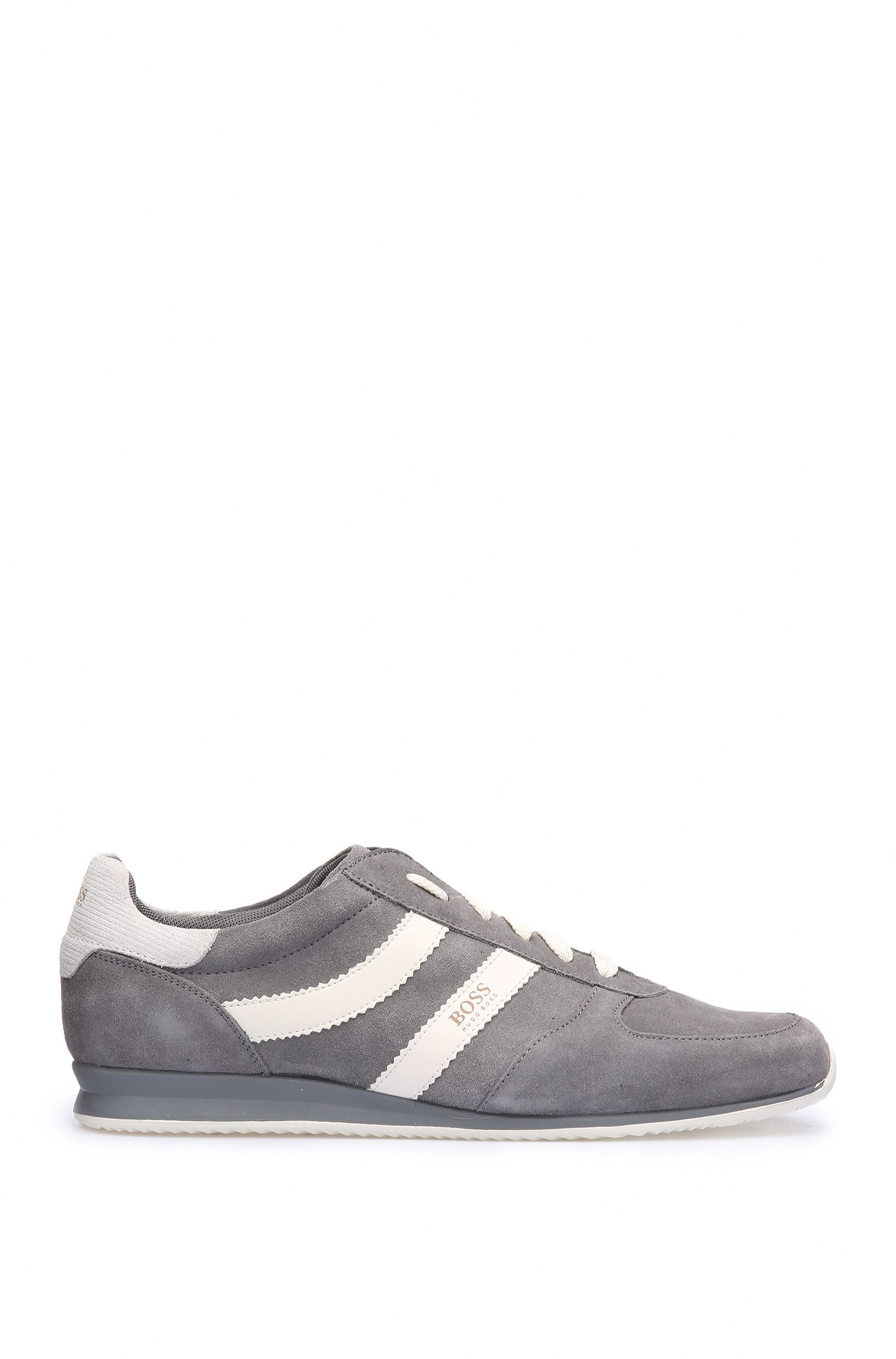 Low-top trainers in fabric blend with suede: 'Orland_Runn_sd'